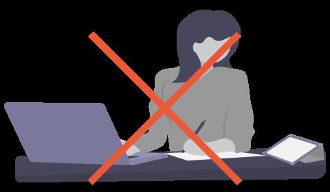 「業務多忙で運用を回しきれない」のイメージイラスト