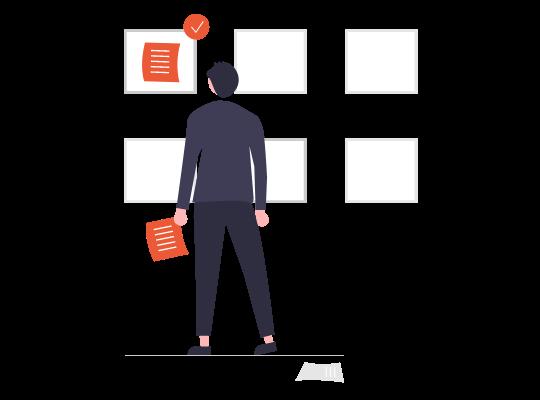 「人事評価制度はあるが、形骸化しており見直したい」のイメージイラスト