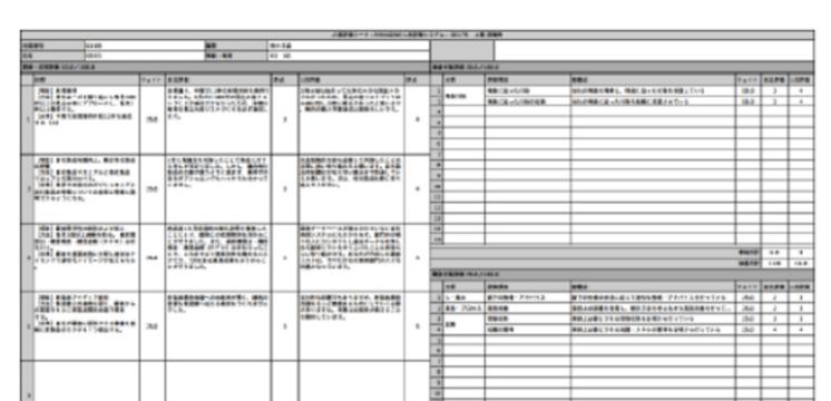 「評価結果をPDF化」のイメージ画像